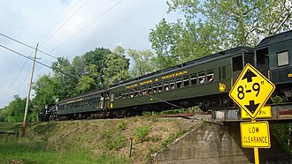 Raritan Township, New Jersey - A Black River and Western Railroad excursion train over Dayton Road in Raritan Township
