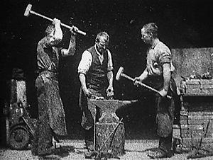 Blacksmith Scene - Screencap from Blacksmithing Scene