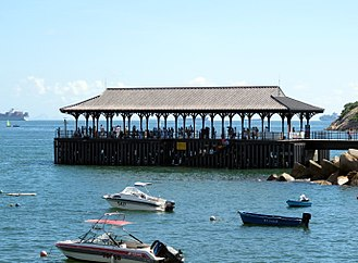 Blake Pier at Stanley - Image: Blake Pier at Stanley View