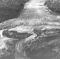 Blockade Glacier, terminus of valley and winding folia, August 23, 1960 (GLACIERS 6412).jpg