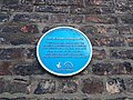 Blue plaque on Cleveland Buildings, Middlesbrough.jpg