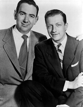 Ray Goulding - Goulding at left with Bob Elliott on Monitor in 1960