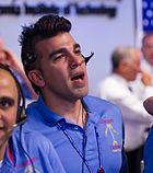 Bobak Ferdowsi during MSL landing (201208050020HQ)