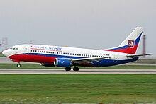 Boeing 737-300 della Atlant-Soyuz Airlines nella livrea attuale.