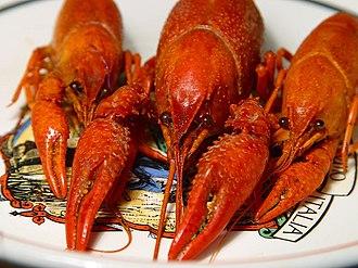Seafood boil - Boiled crawfish