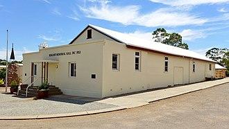 Bolgart, Western Australia - Image: Bolgart Memorial Hall, 2014
