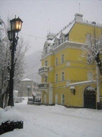 Borjomi - Looking down a street near the tourism district in Borjomi