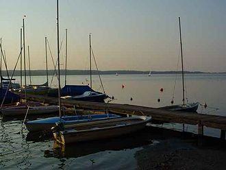 Großer Plöner See - Jetty at Bosau