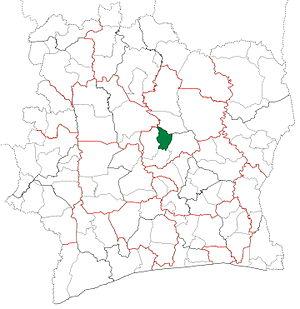 Botro Department - Image: Botro Department locator map Côte d'Ivoire