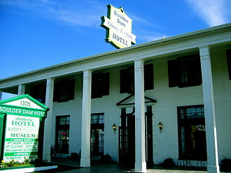 Boulder City Historic District - Boulder Dam Hotel, a contributing property in the Historic District