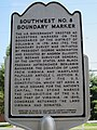 Boundary Stone (District of Columbia) SW 8 Historic marker.jpg
