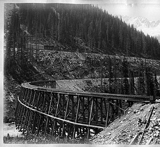 Bow River - Bow River trestle bridge
