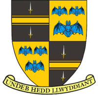 Coat of arms used by Brecknockshire County Council