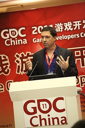 Brian Fargo - Brian Fargo during his keynote at the Game Developers Conference China 2011.