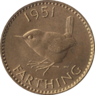 Reverse of the 1951 farthing