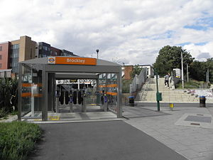 Brockley - Image: Brockley station eastern entrance 2012