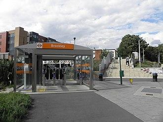 Brockley - Image: Brockley station eastern entrance 2012