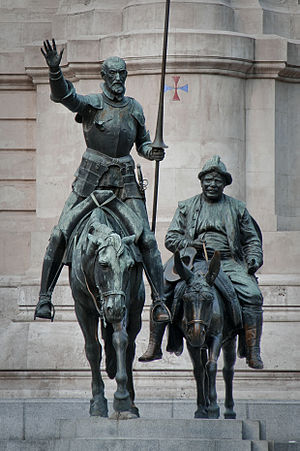 Bronze statues of Don Quixote and Sancho Panza