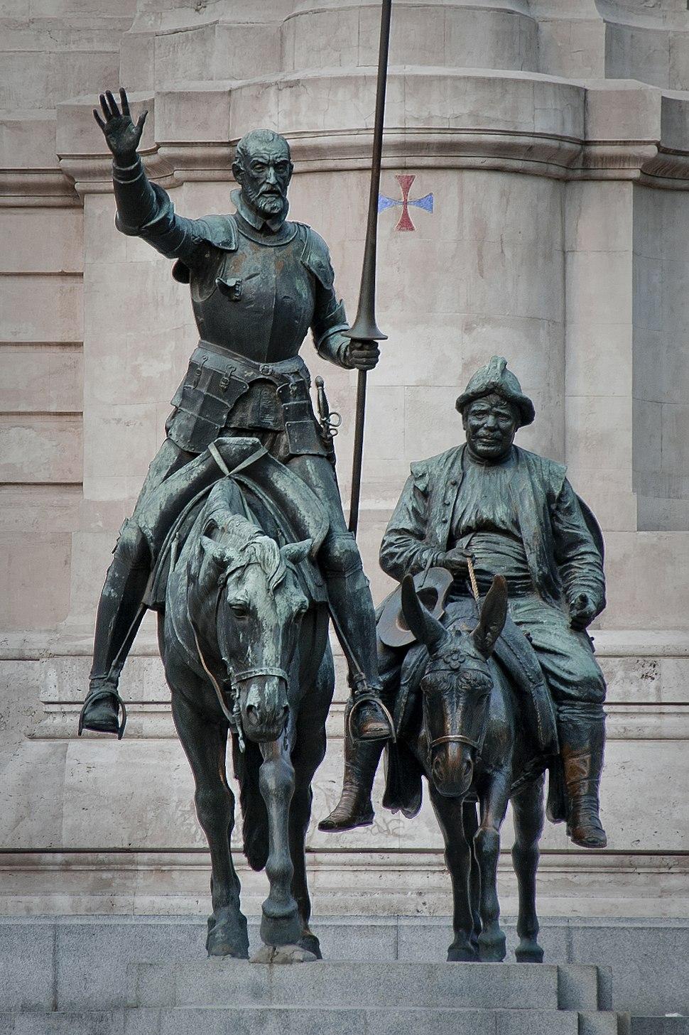 Bronze statues of Don Quixote and Sancho Panza
