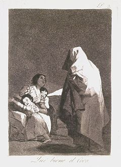 Brooklyn Museum - Here Comes the Bogey-Man (Que viene el Coco) - Francisco de Goya y Lucientes
