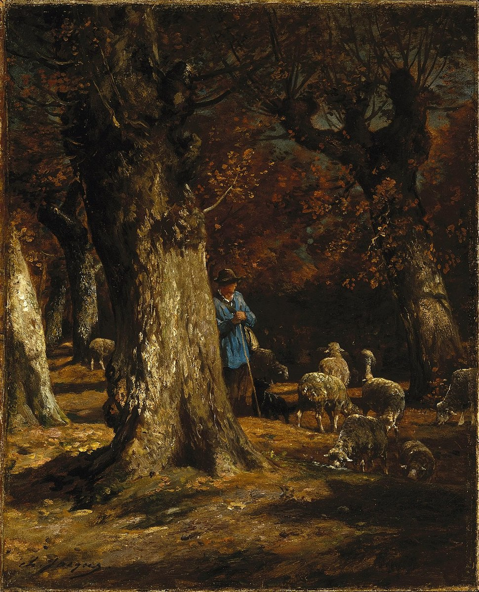 Brooklyn Museum - The Old Forest - Charles-Émile Jacque