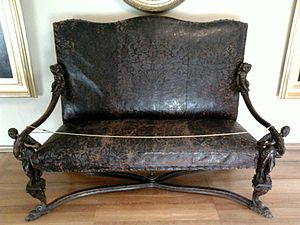 Andrea Brustolon - Brustolon's sofa with black slaves covered with embossed leather (cordovan), National Museum in Warsaw.