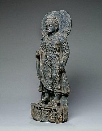 Shravasti - Image: Buddha performs miracle of Sravasti Gandhara