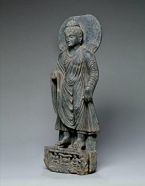 File:Buddha performs miracle of Sravasti Gandhara.jpg