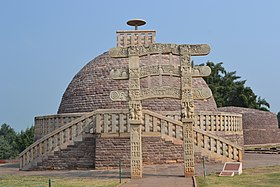 Buddhist Stupas at Sanchi.jpg