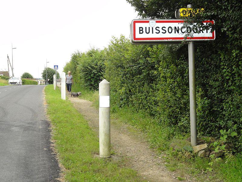 Buissoncourt (m-et-M) city limit sign Buissoncourt