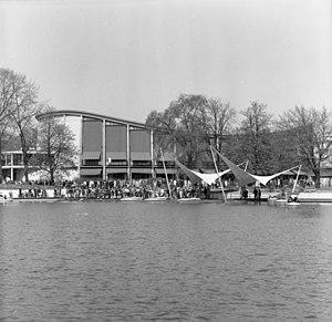 Erich Schelling - The Schwarzwaldhalle in Karlsruhe during the Bundesgartenschau 1967