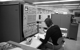 IBM System/360 - IBM System/360 Model 50 CPU, computer operator's console, and peripherals at Volkswagen