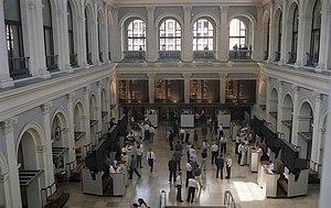 Hamburg Chamber of Commerce - Floor of the Hamburg Stock Exchange (Börse), inside the Chamber of Commerce.