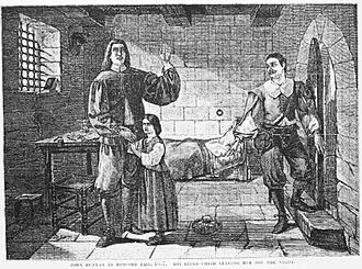 John Bunyan - Bunyan in prison as imagined in 1881