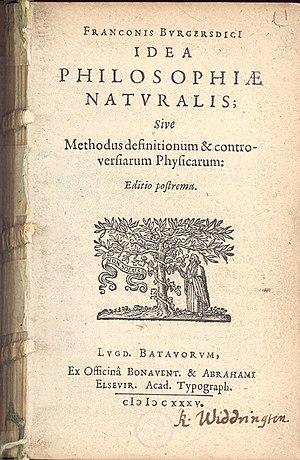 Franco Burgersdijk - Idea philosophiae naturalis  (Leiden, Elzevier, 1635)