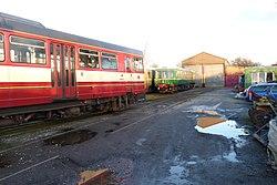 Butterley railway station, Derbyshire, England -train-19Jan2014 (4).jpg