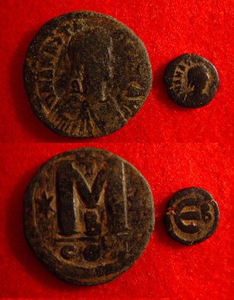 Follis - 40 and 5 nummi of Anastasius.