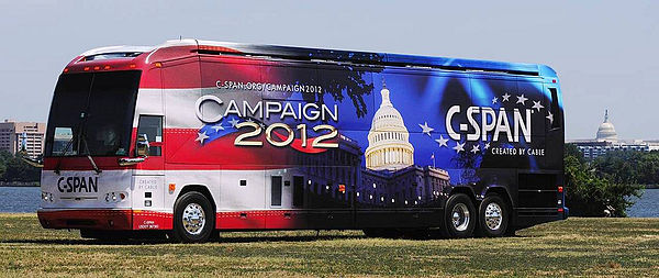 C-SPAN Digital Bus, which tours the U.S. educating the public about C-SPAN resources C-SPAN Bus 2012.jpg