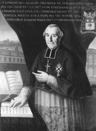 Roman Catholic Diocese of Vence - Image: C.F.J. de Pisani de la Gaude Namur