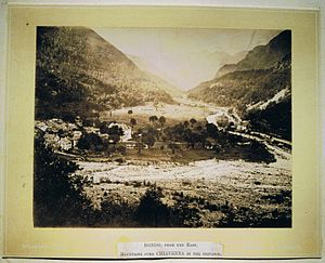 Bondo, Switzerland - View of Bondo from the north, c. 1870