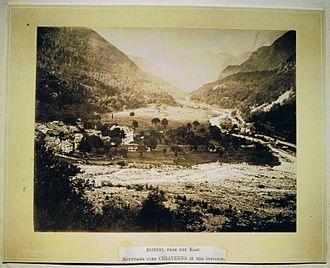 Bondo, Switzerland - View of Bondo from the north, c. 1870