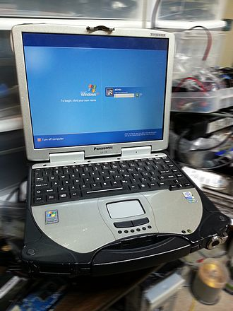 Toughbook - This is a CF-28 Mk3 with a 1.0 GHz Intel PIII Processor, 768MB PC133 RAM, Touchscreen, Backlit rubber keyboard and Windows XP Pro SP3.