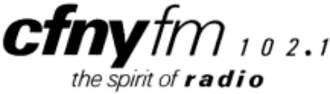 """CFNY-FM - """"The Spirit of Radio"""" logo used by CFNY during the early and mid-1980s"""