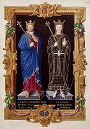 King Chilperic I and Queen Frédégonde.