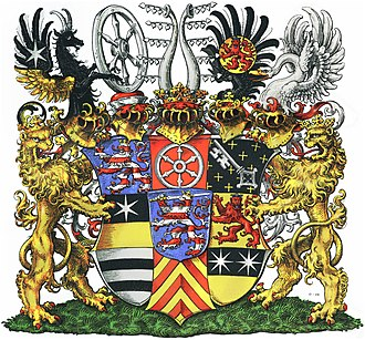 Coat of arms of Hesse - Image: COA Großherzog von Hessen und bei Rhein