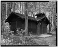 COMFORT STATION, LOOKING EAST - Kendall Lake Shelter, Truxell Road, Peninsula, Summit County, OH HABS OHIO,77-PEN.V,1-9.tif