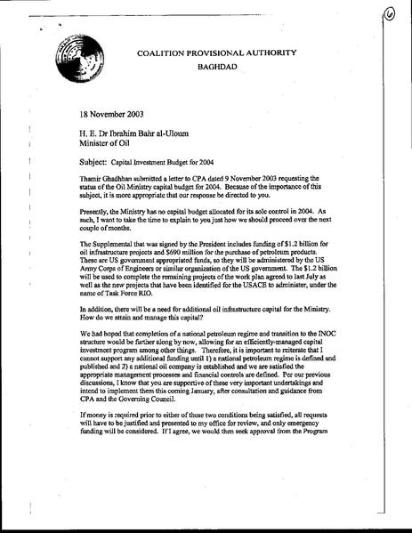 File:Cpa Memorandum, Subject -- Capital Investment Budget For 2004