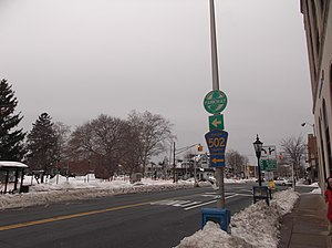 County Route 502 (New Jersey) - CR 502 westbound in Westwood