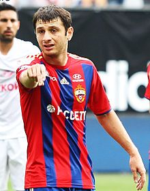 Alan Dzagoev - the talented, tough,  football player  with Georgian roots in 2017