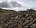 Cairn on the way to the summit of Pen Y Ghent - geograph.org.uk - 1204933.jpg